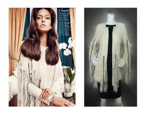 Chanel Boucle Jacket with Exaggerated Fringe Trim