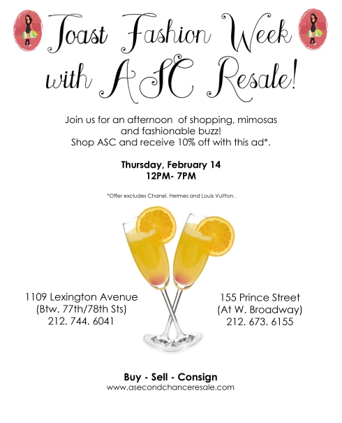 Toast New York Fashion Week with ASC Resale!