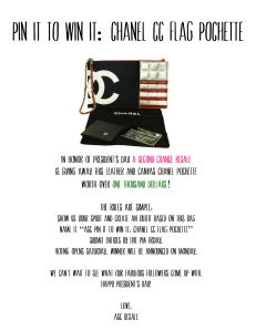 Pin It To Win It: Win a Chanel Flag CC Pochette!